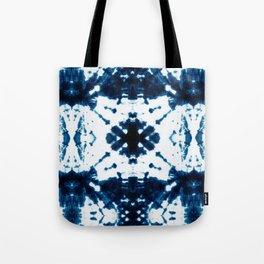 Velvet Shibori Blue Tote Bag