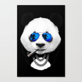 Blue Summer Panda Canvas Print