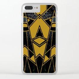 Geometric #635 Clear iPhone Case