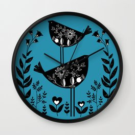 Danish Birds Bring Good Luck And A Good Life Wall Clock