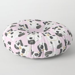 Staffordshire Dog Figurines No. 2 in Light Bubblegum Pink Floor Pillow