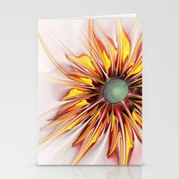 sunflower Stationery Cards featuring Sunflower by Klara Acel