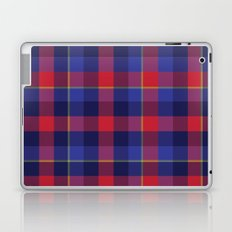 Red and Blue plaid Laptop & iPad Skin