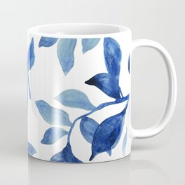 Indigo Leaves Watercolour painting Coffee Mug