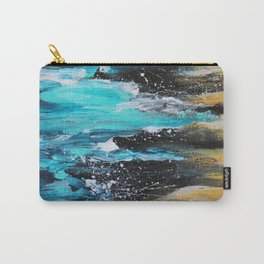 The Salty Sea Abstract Landscape Carry-All Pouch