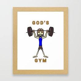 GOD's Gym Framed Art Print