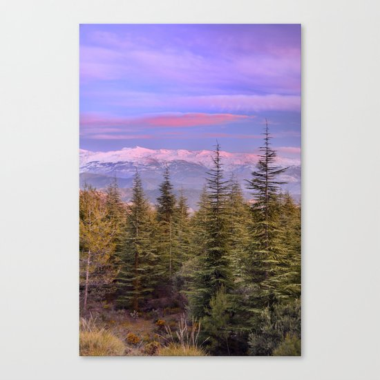 """At the mountains"" Canvas Print"