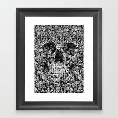 Naked Skull Framed Art Print