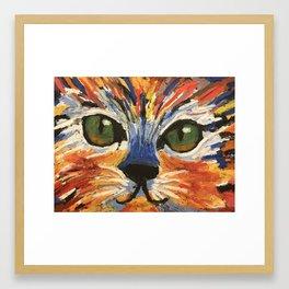 Kitty Face Framed Art Print