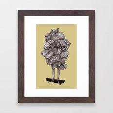 about skateboarding Framed Art Print