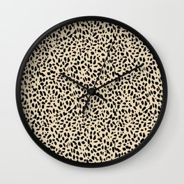 Leopard+Heart in Buttery  Wall Clock