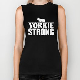 Yorkie Design Yorkie Strong Biker Tank