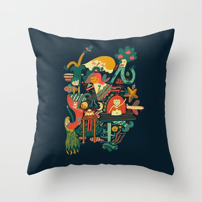 Crazy dream Throw Pillow