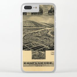 Aerial View of Confluence, Pennsylvania (1905) Clear iPhone Case