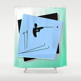 Biathlon silhouettes Shower Curtain