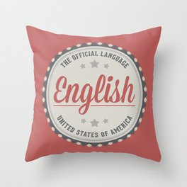 The Official Language Throw Pillow