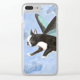 Dog Fairy Clear iPhone Case