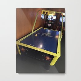 Air Hockey Metal Print