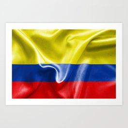 Colombian Flag Art Print