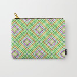 Green Neon Plaid Carry-All Pouch