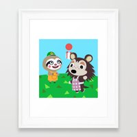 animal crossing Framed Art Prints featuring Animal Crossing by Alex Owen