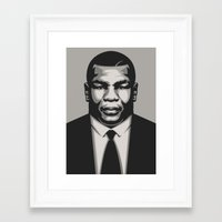 mike tyson Framed Art Prints featuring TYSON by UCArts