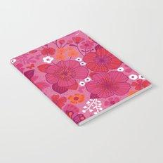 Vintage Florals in Pink and Scarlet Notebook