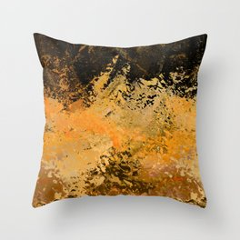 Abstract fall foliage Throw Pillow