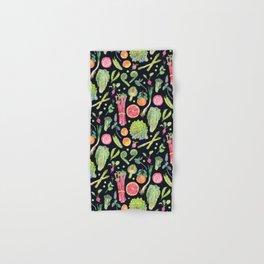 Spring Harvest Pattern Dark Hand & Bath Towel