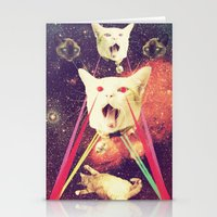saga Stationery Cards featuring galactic Cats Saga 4 by Carolina Nino