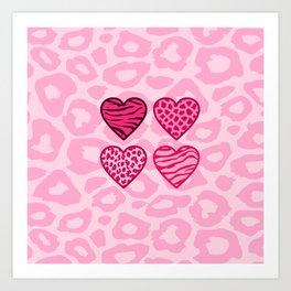 Wild hearts Art Print