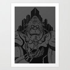 Kong-Bot in Metropolis Art Print