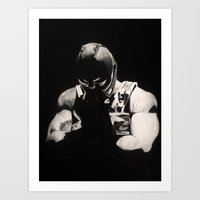 bane Art Prints featuring Bane by a vitruvian man