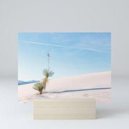 Yucca in White Sands Mini Art Print