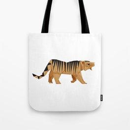 Origami Tiger Tote Bag
