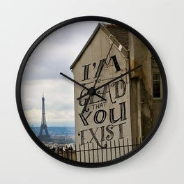I'm So Glad That You Exist Wall Clock