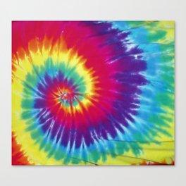 Tie dye hippie Canvas Print