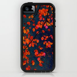 furious red leaves iPhone Case