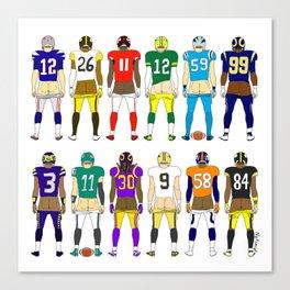 Football Butts Canvas Print