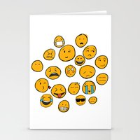 emoji Stationery Cards featuring Emoji Family by Jason Travis