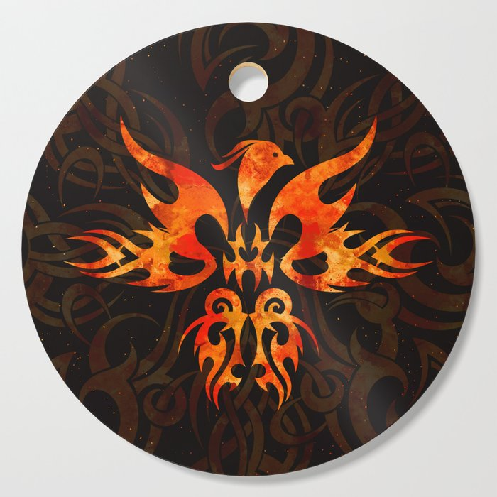 Fire Phoenix Bird Cutting Board