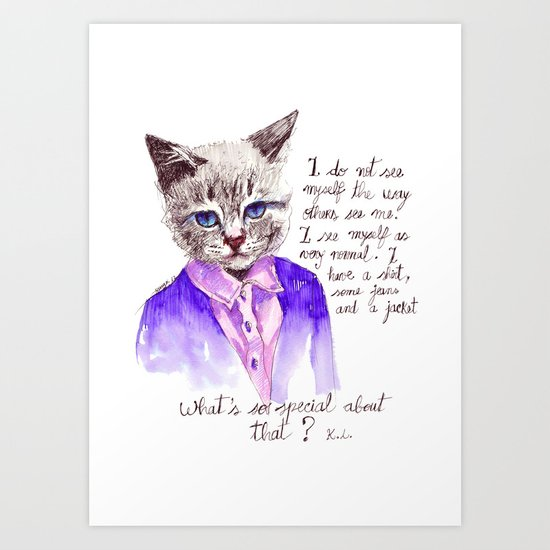 Fashion Mr. Cat Karl Lagerfeld and Chanel Art Print