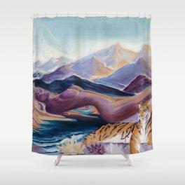 Himalayan Goddess Tara Shower Curtain