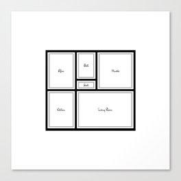 Little Apartment Plan Canvas Print
