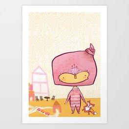 Baby Fox Bedtime - Tonia Dee Nature Girl Art Print