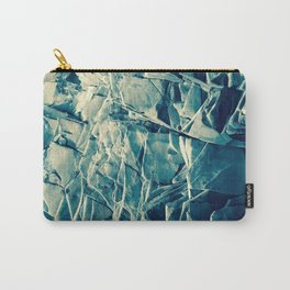 Cracked Rocks Blue Carry-All Pouch