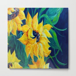 Sunflower Party Metal Print