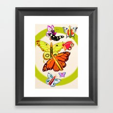 Bullet with Butterfly Wings Framed Art Print