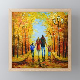 Walk the whole family  Framed Mini Art Print