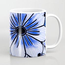Indigo Blue Flower Coffee Mug